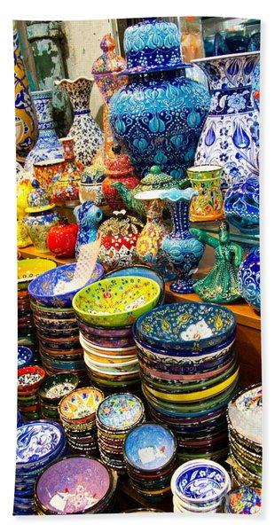 Turkish Ceramic Pottery 1 Beach Towel