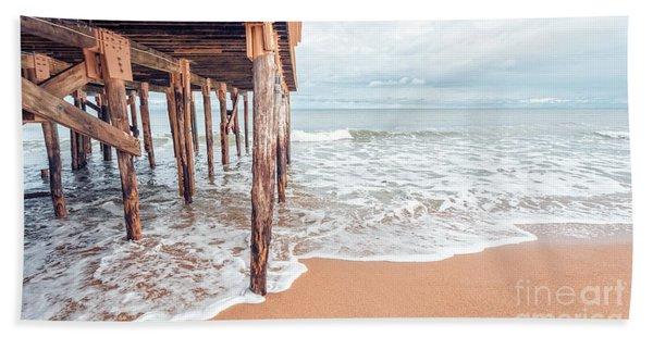 Under The Boardwalk Salsibury Beach Beach Towel