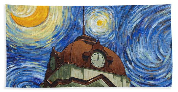 Van Gogh Courthouse Beach Sheet