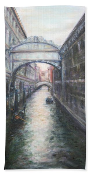Venice Bridge Of Sighs - Original Oil Painting Beach Sheet