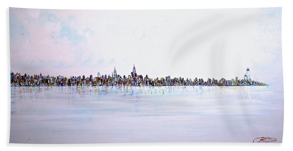 View From The Hudson Beach Towel