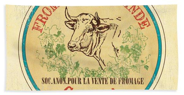 Vintage Cheese Label 1 Beach Towel