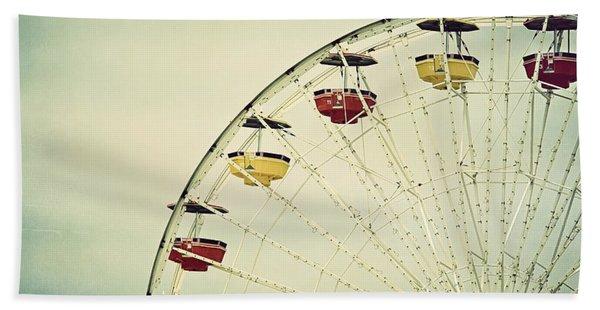 Vintage Ferris Wheel Beach Towel
