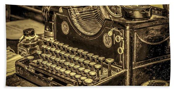 Vintage Typewriter Beach Towel