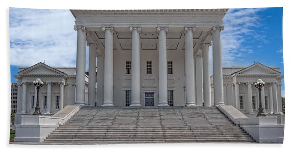 Beach Towel featuring the photograph Virginia Capitol by Jemmy Archer