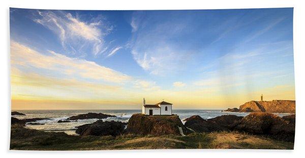 Virxe Do Porto Meiras Galicia Spain Beach Towel
