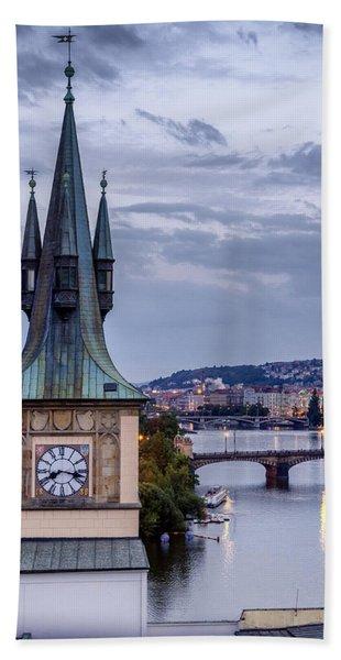 Vltava River In Prague Beach Towel