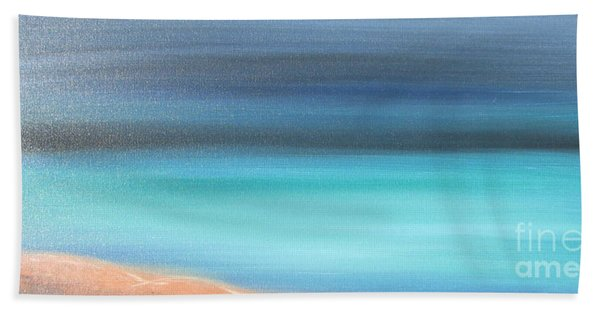 Beach Towel featuring the painting Waiting by Jacqueline Athmann