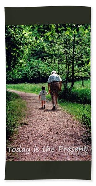 Walking With Grandma Beach Towel