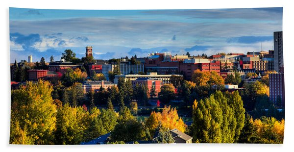 Washington State University In Autumn Beach Sheet