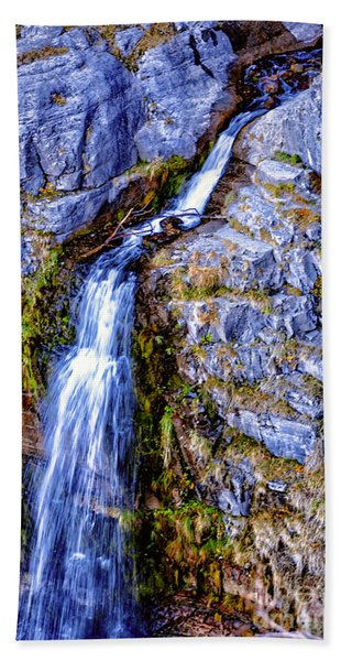 Beach Towel featuring the photograph Waterfall-mt Timpanogos by David Millenheft