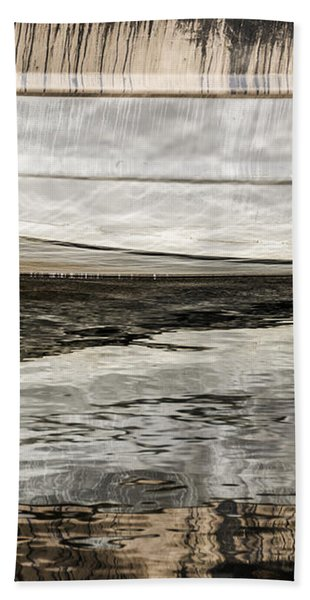 Wavy Reflections Beach Towel