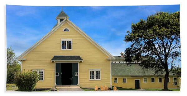Beach Towel featuring the photograph Wells Reserve Barn by Jemmy Archer