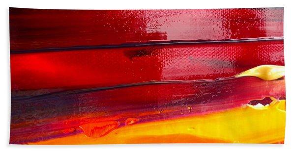 Beach Towel featuring the photograph Wet Paint 123 by Jacqueline Athmann