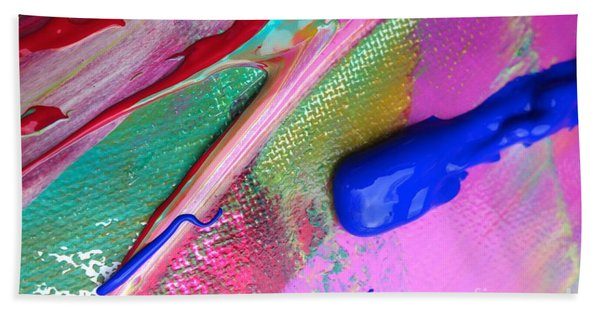 Beach Towel featuring the painting Wet Paint 31 by Jacqueline Athmann
