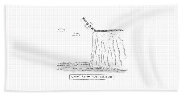 What Lemmings Believe Beach Towel