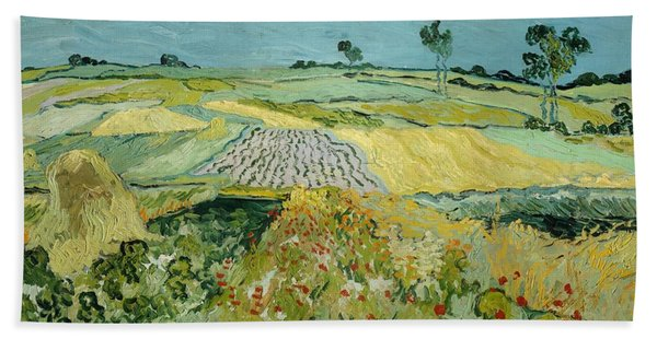 Wheatfields Near Auvers-sur-oise Beach Towel