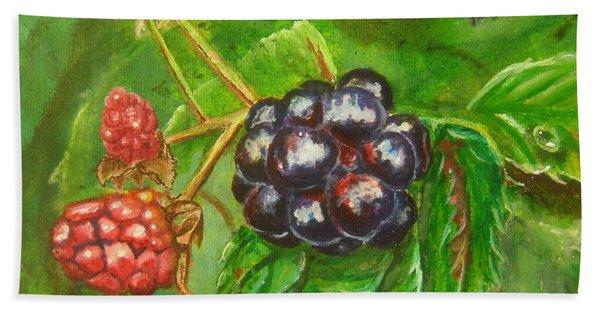Wild Blackberries Beach Towel