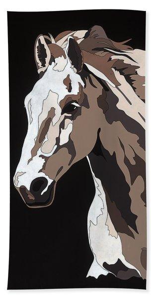 Wild Horse With Hidden Pictures Beach Towel