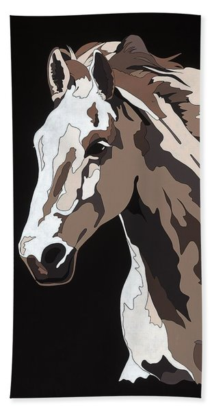 Wild Horse With Hidden Pictures Beach Sheet