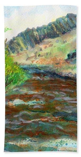 Willow Creek In Spring Beach Towel