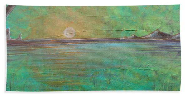 Beach Towel featuring the painting Winter Solitude 7 by Jacqueline Athmann