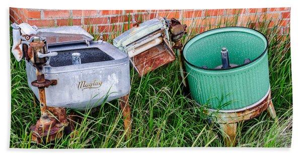 Wringer Washer And Laundry Tub Beach Sheet
