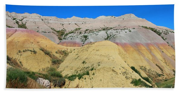 Beach Towel featuring the photograph Yellow Mounds Badlands National Park by Jemmy Archer