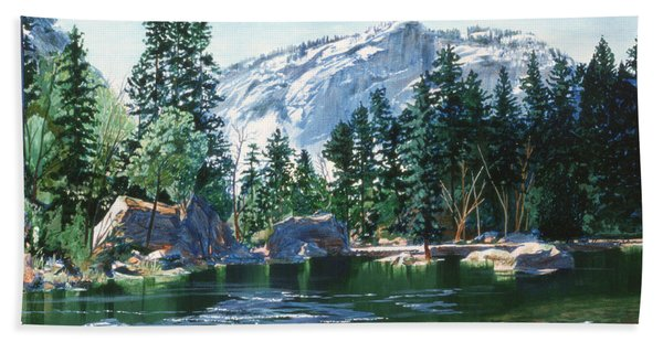 Yosemite Mirror Lake Beach Towel