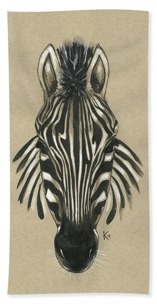 Zebra Front Beach Sheet
