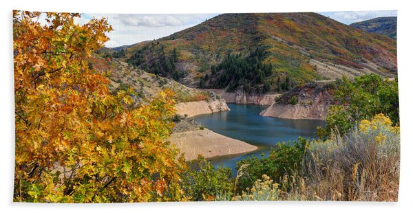 Autumn At Causey Reservoir - Utah Beach Towel