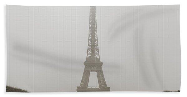 Foggy Morning In Paris Beach Towel