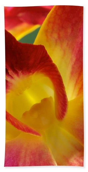 Photograph Of A Hope Orchid Flower Beach Sheet