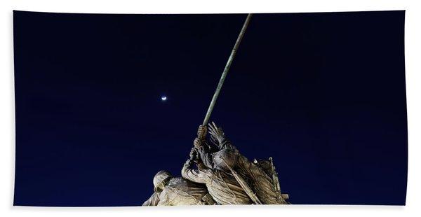 Iwo Jima Memorial At Dusk Beach Towel