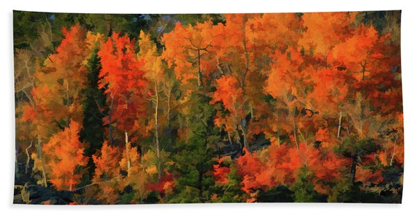 Autumn Water Colors  Beach Towel