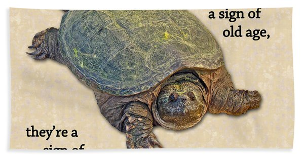 Birthday Card American Snapping Turtle Beach Towel
