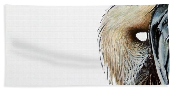 Blue Heron Study Beach Towel
