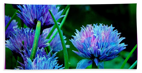 Chives For You Beach Towel