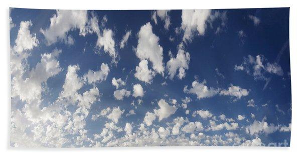 Cloudy Sky Beach Sheet