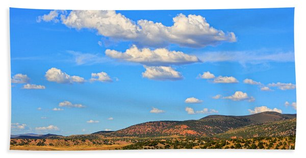 Cloudy Wyoming Sky Beach Towel