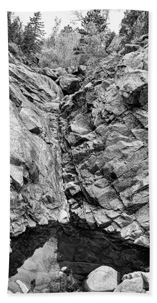 Colorado Rocky Mountain Black Gold Beach Towel