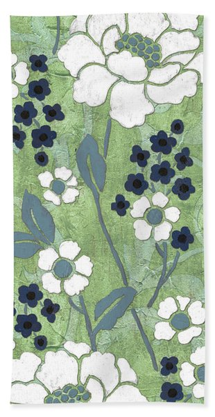 Country Spa Floral 1 Beach Towel