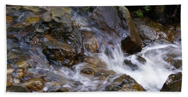 Creek Scene On Mt Tamalpais Beach Towel