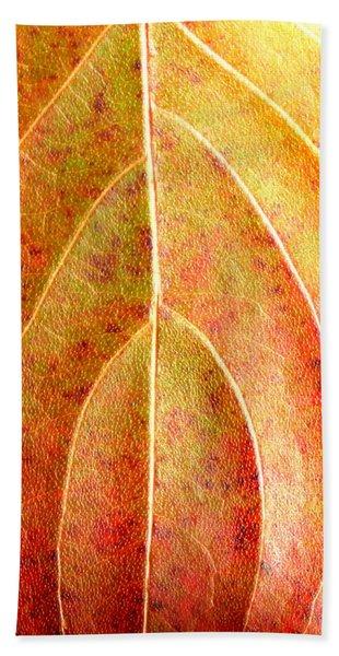 Fall Leaf Upclose Beach Sheet