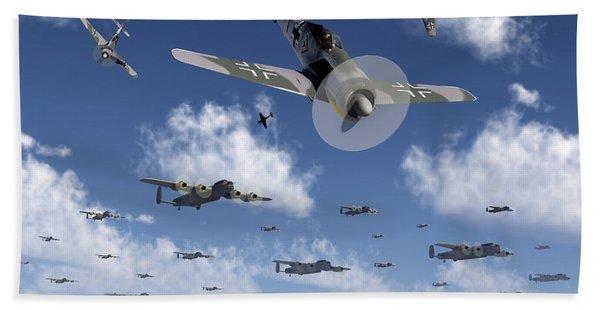 German Focke-wulf 190 Fighter Aircraft Beach Towel