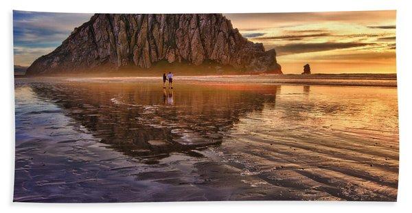 Golden Sunset Beach Sheet