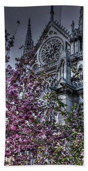 Gothic Paris Beach Towel