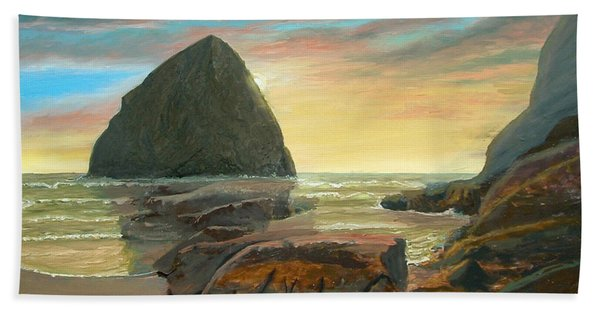 Haystack Kiwanda Sunset Beach Towel
