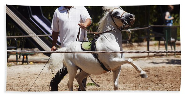 Horse Training Beach Towel