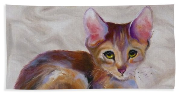 Kitten Princess Beach Towel